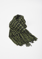 Hope green check cover scarf