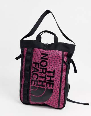The North Face Base Camp tote bag in festival pink