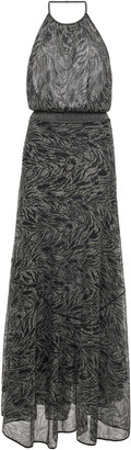 Missoni Printed Halterneck Knitted Maxi Dress