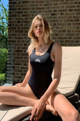 Ellesse Lily 2 Reflective Logo One-Piece Swimsuit - Black XS at Urban Outfitters