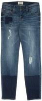 Hudson 'Ellie' Distressed Patch Skinny Jeans (Big Girls)