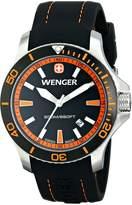 Wenger Men's 0641.102 Sea Force 3H Analog Display Swiss Quartz Watch