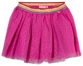 Le Big Pink Spot Tulle Skirt with Lurex Waistband