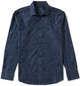Vince Camuto Slim-Fit Floral-Print Long-Sleeve Stretch Woven Shirt