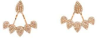 Anne Sisteron 14K Diamond Tiara Floating Earrings