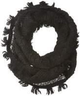 Collection XIIX Textured Chevron Fringe Loop Scarves