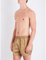 Sunspel Light Blue Woven Striped Relaxed-fit Cotton-woven Boxers