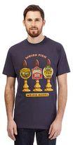 Weird Fish Navy 'weird Beers' Print T-shirt