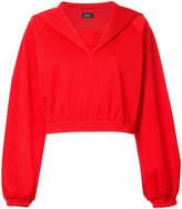 G.V.G.V. puff sleeve cape sweatshirt