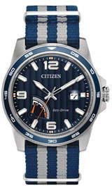 Citizen 42mm Men's PRT Watch w/ Nylon Strap, Dark Blue