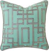 "Barclay Butera Hudson Turquoise Pillow, 22""Sq."