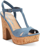 American Rag Jamie T-Strap Platform Dress Sandals, Only at Macy's