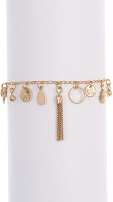 Melrose and Market Tassel & Disc Charm Bracelet