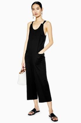 Topshop Womens Knot Strap Jumpsuit - Black