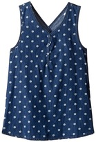 Splendid Littles Printed Denim Cross Back Tank Top Girl's Sleeveless