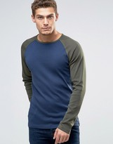 Esprit Raglan Long Sleeve Top in Slim Fit