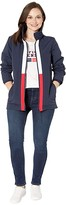 Tommy Hilfiger Adaptive Windbreaker Jacket with Magnetic Zipper (Masters Navy/Bright White/Tango Red) Women's Clothing