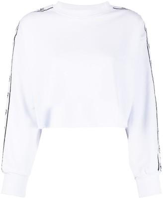Chiara Ferragni Flirting tape crop sweatshirt