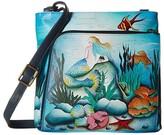 Anuschka Crossbody with Front RFID Built in Wallet 651 (Little Mermaid) Cross Body Handbags
