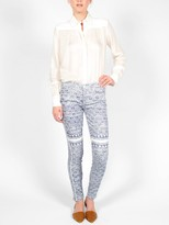 Mother The Colorblock Shag Looker Skinny Jean
