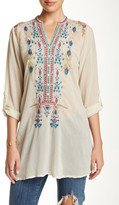 Johnny Was Long Sleeve Embroidered Tunic Blouse