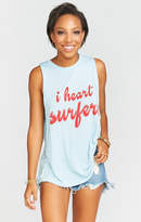 MUMU Mikey Muscle Tank ~ I Heart Surfers Graphic