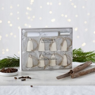 The White Company Winter Scented Ceramic Bell Decorations Set of 8, No Colour, One Size