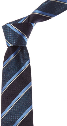 Canali Blue Stripes Silk Tie