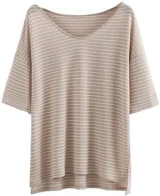 Goodnight Macaroon 'Alora' Oversized Striped T-Shirt (3 Colors)