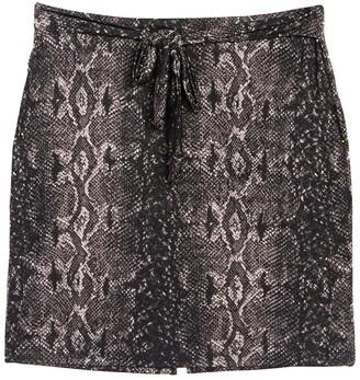 Halogen TIe Waist Knit Skirt (Plus Size)