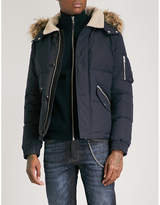 The Kooples Hooded shell-down jacket