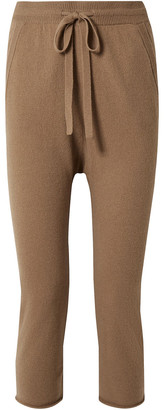 Nili Lotan Luna Cropped Cashmere Straight-leg Pants