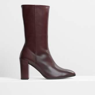 Theory Mid Shaft Boot in Leather