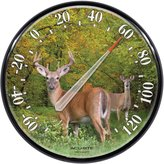Acu-Rite AcuRite 01737A2 12.5-Inch Wall Thermometer, Deer