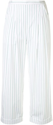 Eres Cropped Pinstripe Trousers