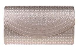 La Regale Edwardian Crystal Lattice Flap Clutch - Large