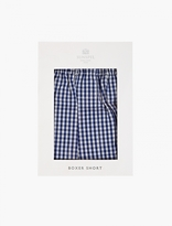 Sunspel Blue Gingham Classic Boxer Shorts