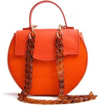 Ostwald Finest Couture Bags Circle Flap In Orange