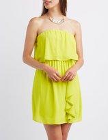 Charlotte Russe Ruffled Sleeveless Midi Dress