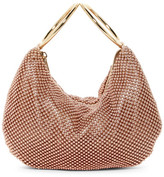 Jessica McClintock Sarah Beaded Mesh Hobo Clutch