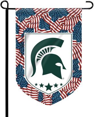 Michigan State Spartans Patriotic Garden Flag