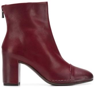 Del Carlo Rear Zip Ankle Boots