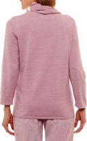 Alfred Dunner Winter Garden 3/4 Sleeve Crew Neck Layered Sweaters