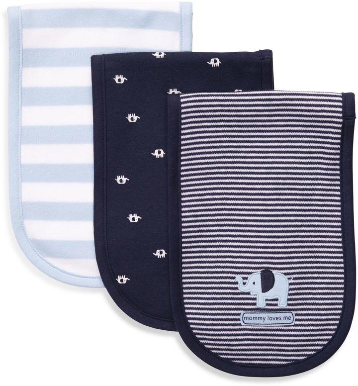 Carter's Navy Blue 3-Pack Burp Cloths