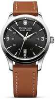 Victorinox Alliance Leather Strap Watch, 40mm