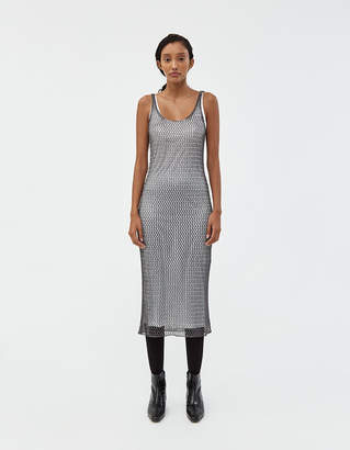 ALEXACHUNG Alexa Chung Mesh Metallic Dress