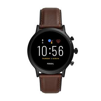 Fossil Gen 5 Carlyle HR Heart Rate Stainless Steel and Leather Touchscreen Smartwatch