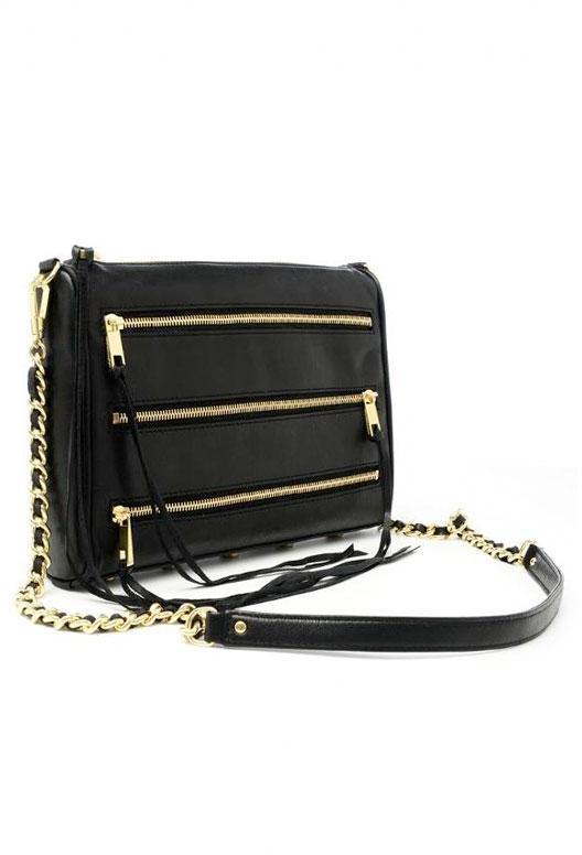 Rebecca Minkoff 5 Zip Clutch in Black