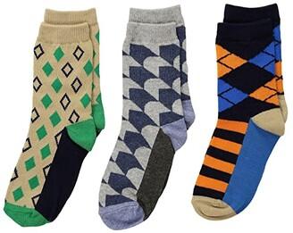 Jefferies Socks Funky Diamond Dress Socks 3-Pack (Toddler/Little Kid/Big Kid) (Multi) Boys Shoes