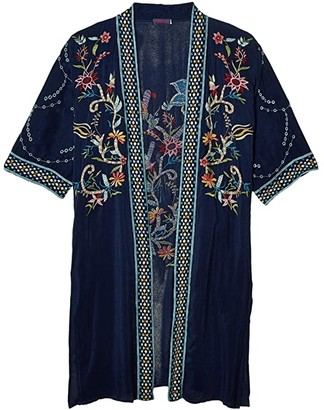 Johnny Was Summer Kimono (Blue Night) Women's Clothing